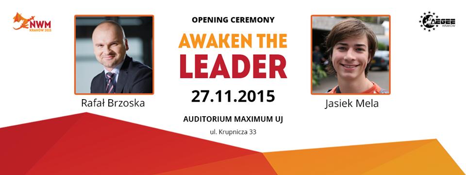 Obudź w sobie lidera! Jasiek Mela i Rafał Brzoska dla AEGEE